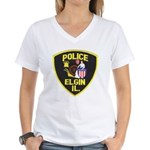 Elgin Illinois Police Women's V-Neck T-Shirt