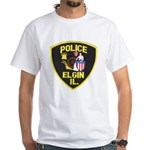 Elgin Illinois Police White T-Shirt