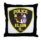 Elgin Illinois Police Throw Pillow