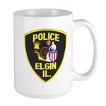 Elgin Illinois Police Large Mug