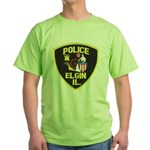 Elgin Illinois Police Green T-Shirt