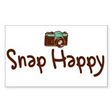 """Snap Happy"" Rectangle Decal"
