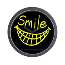 Funny Smile (It Confuses People) Wall Clock