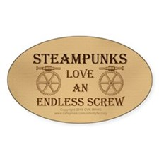 Steampunk Endless Screw Decal