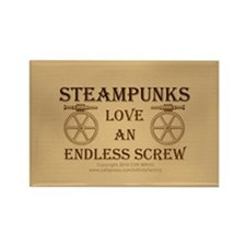 Steampunk Endless Screw Rectangle Magnet