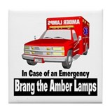 Brang The Amber Lamps Tile Coaster