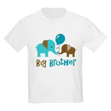 Big Brother - Mod Elephant Kids Light T-Shirt