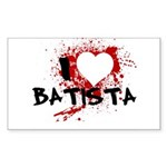 I Heart Batista Sticker (Rectangle)