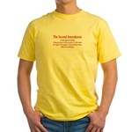 The Second Amendment Yellow T-Shirt
