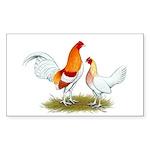 Old English Bantam: Red Pyle Sticker (Rectangle 50