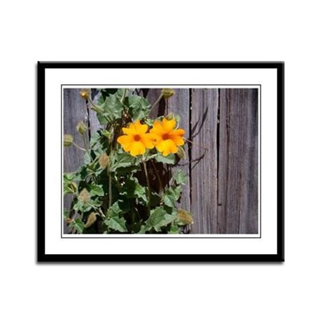 Climbing the Fence Framed Panel Print