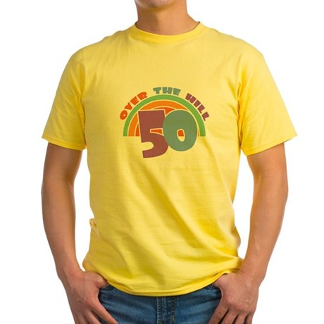 Over the Hill 50th Birthday  Yellow T-Shirt