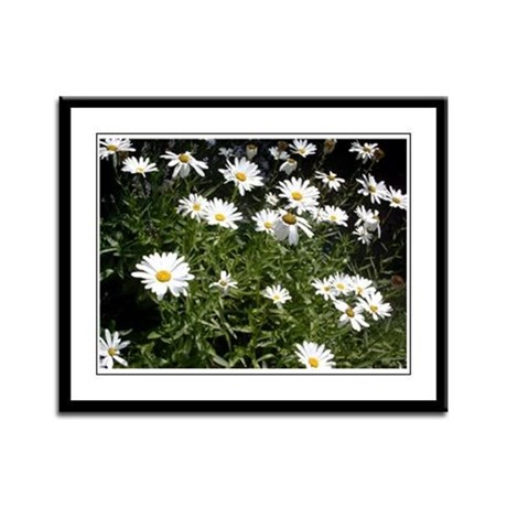 Cheerful Daisies Framed Panel Print