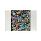 graffiti of the word peace tr Rectangle Magnet (10