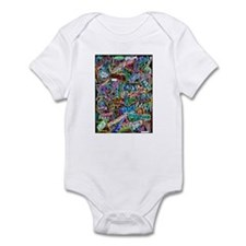 graffiti of the word peace tr Infant Bodysuit