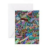 graffiti of the word peace tr Greeting Card