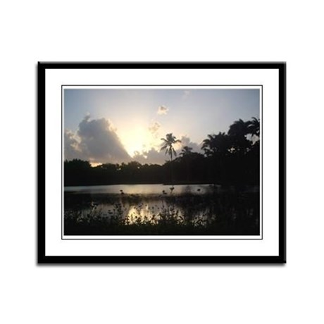 Heavenly Light Framed Panel Print