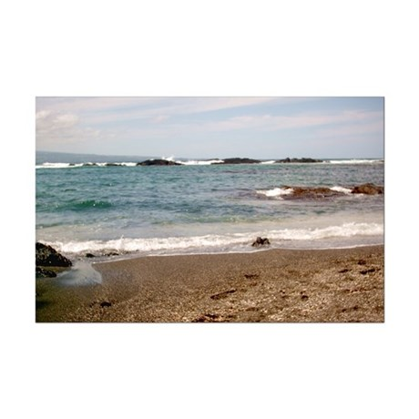 Big Island Beach Mini Poster Print