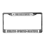 Cheerleader Athletic Spirited Beautiful Frame