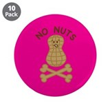 "Tree nut allergic 3.5"" Button (10 pack)"