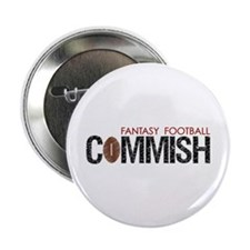 "Fantasy Football Commish 2.25"" Button (100 pack)"