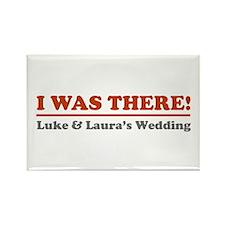 Luke&Laura Wedding Rectangle Magnet