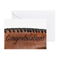 Congratulations Bay Horse Greeting Cards (6)