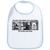Cute Pit bull dog Bib