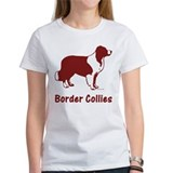 Red Border Collie & Motto Womens T-shirt
