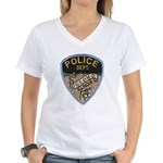 Oblong Illinois Police Women's V-Neck T-Shirt