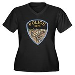 Oblong Illinois Police Women's Plus Size V-Neck Da