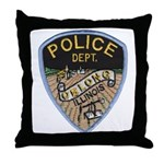 Oblong Illinois Police Throw Pillow
