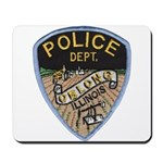 Oblong Illinois Police Mousepad