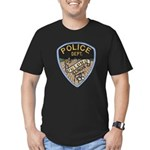 Oblong Illinois Police Men's Fitted T-Shirt (dark)