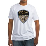 Oblong Illinois Police Fitted T-Shirt