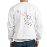 2 Moms, 1 Family Heart Design Sweatshirt