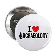 """I Love Archaeology 2.25"""" Button"""