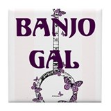 Butterfly Banjo Tile Coaster