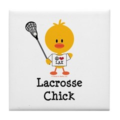 Lacrosse Chick Tile Coaster