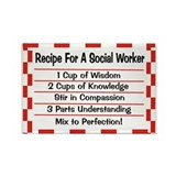 Social Worker II Rectangle Magnet (100 pack)