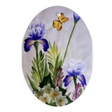 """Spring Floral"" Oval Ornament"