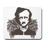 Edgar Poe Goth Crow Mousepad