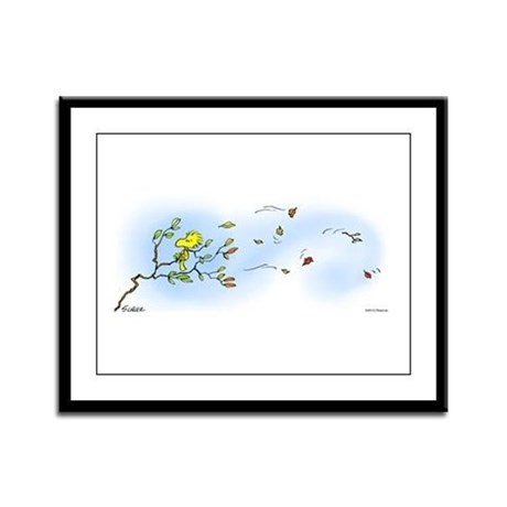 Windy Woodstock Framed Panel Print
