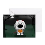 Sheepdog Devil Halloween Greeting Cards (Pk of 10)