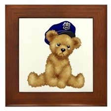 Police Officer Teddy Bear Framed Tile