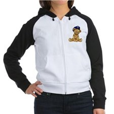 Police Officer Teddy Bear Women's Raglan Hoodie