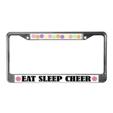 Cute Eat Sleep Cheer License Frame