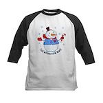 Cold Mittens Snowman Kids Baseball Jersey
