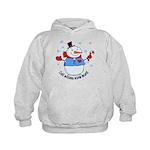 Cold Mittens Snowman Kids Hoodie
