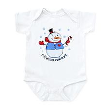 Cold Mittens Snowman Infant Bodysuit